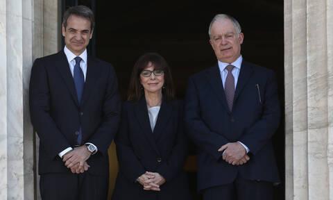 Ορκωμοσία στα χρόνια του κοροναϊού: Ορκίστηκε Πρόεδρος της Δημοκρατίας η Κατερίνα Σακελλαροπούλου