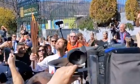 Ολυμπιακή Φλόγα: «This is Sparta» φώναξε ο κινηματογραφικός Λεωνίδας (vid)