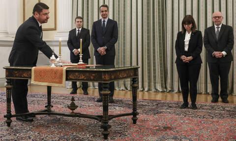 Ορκίστηκε υφυπουργός Πολιτικής Προστασίας ο Νίκος Χαρδαλιάς
