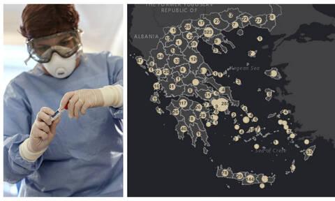 Κορονοϊός: Σας αφορά! Πόσοι έχουν τα συμπτώματα στην Ελλάδα – Δείτε τους χάρτες