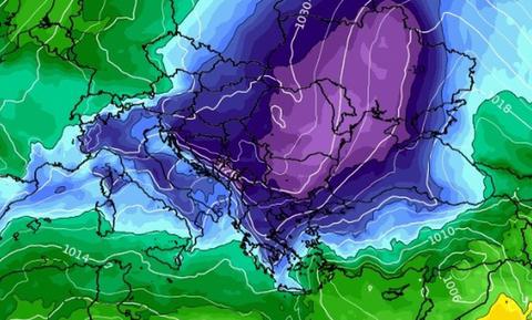 Καιρός: Κλειδώνει η ψυχρή εισβολή. Φέρνει κρύο και χιόνια. Καρέ - καρέ η εξέλιξη (photos)