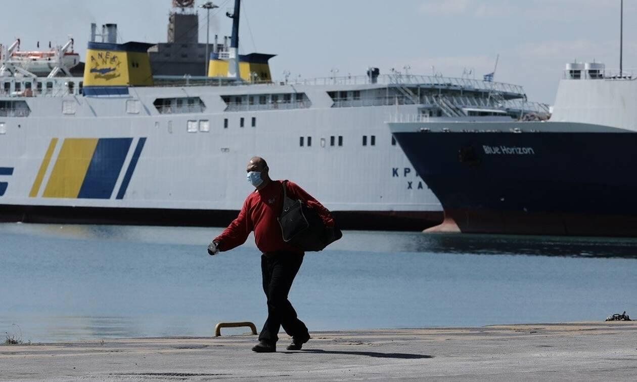 Αποτέλεσμα εικόνας για πλοια κωρονοιος απαγορευδη