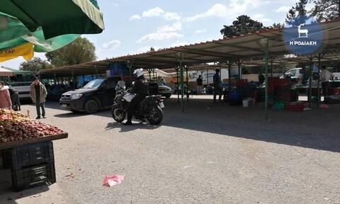 Κορονοϊός: Πανικός σε λαϊκή αγορά στη Ρόδο! Παρενέβη η αστυνομία