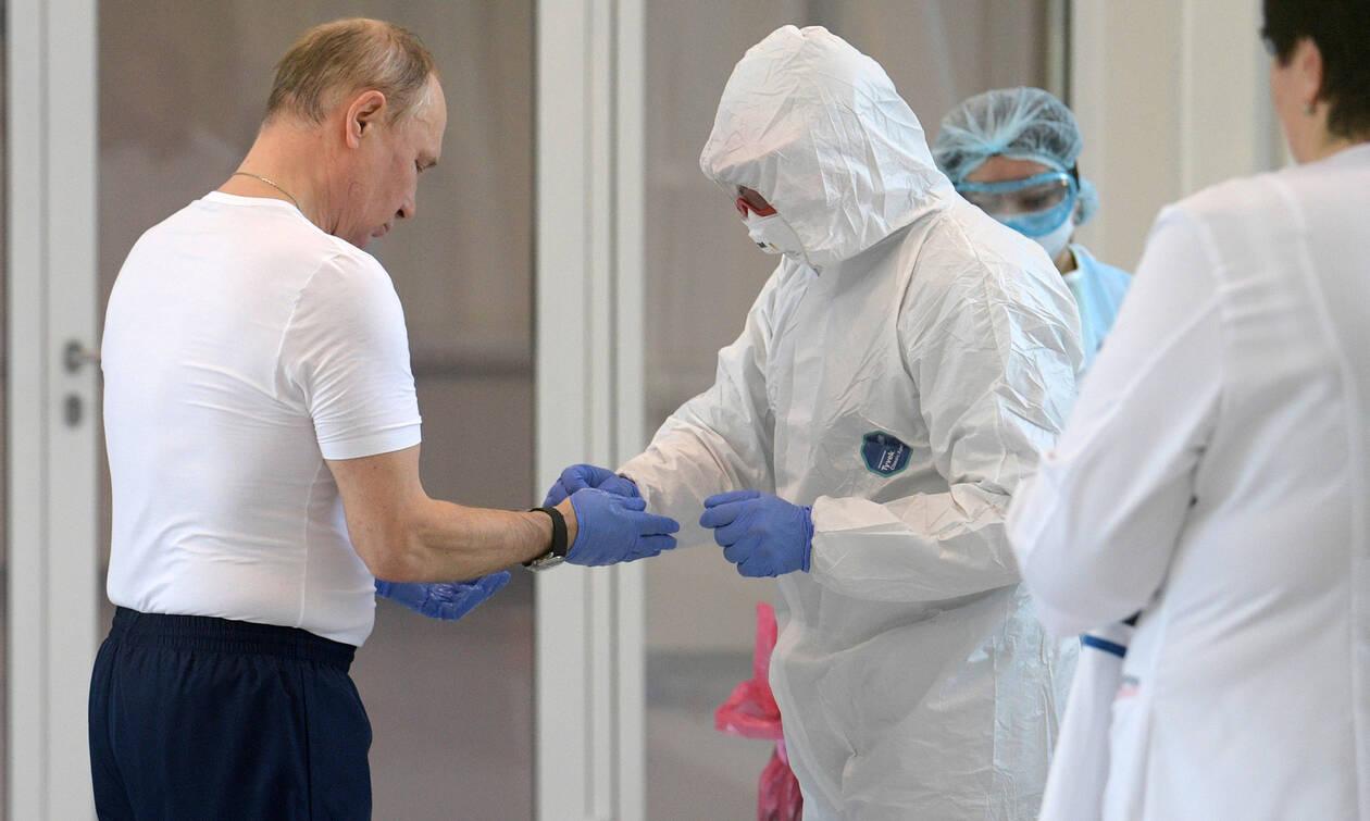 Κορονοϊός – Ρωσία: Ο Πούτιν επισκέφθηκε νοσοκομείο και διαπίστωσε ότι λειτουργεί «ρολόι» (pics)