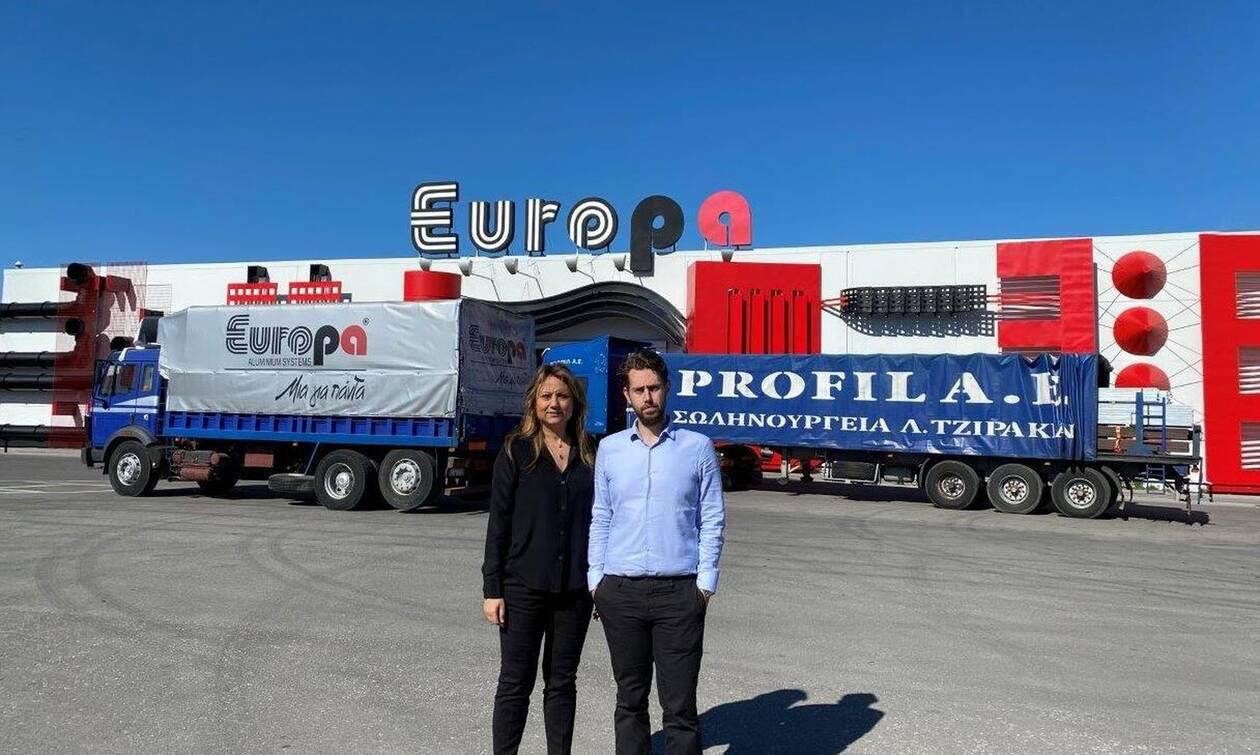 ΣΩΛΗΝΟΥΡΓΕΙΑ ΤΖΙΡΑΚΙΑΝ & EUROPA PROFIL ΑΛΟΥΜΙΝΙΟ: Χορηγία υλικών στον Έβρο
