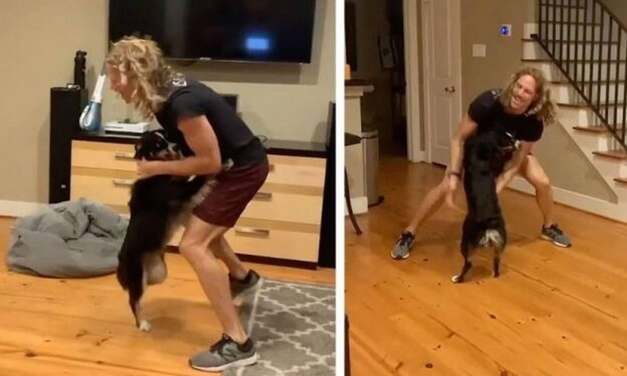 Βίντεο: Ρίχνει ΤΡΕΛΟ χορό με τον σκύλο του και γκρεμίζει το ίντερνετ!