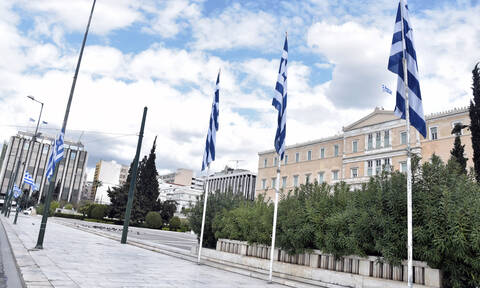 Greek president, prime minister honor Greek Independence Day at simple and brief ceremony