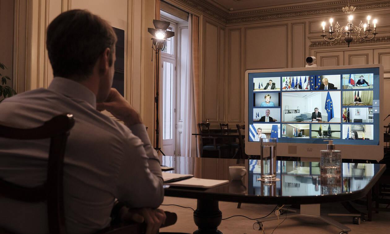 Σύνοδος Κορυφής: Ο Κυριάκος Μητσοτάκης επέμεινε στην ανάγκη έκδοσης «κορονο-ομολόγου»