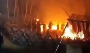 Έβρος: Φωτιά πίσω από το φράκτη στα τούρκικα σύνορα