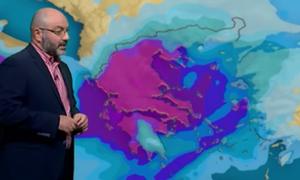 Καιρός: Αστατος με τοπικές βροχές μέχρι και την Τετάρτη. Η ανάλυση του Σάκη Αρναούτογλου (vid)