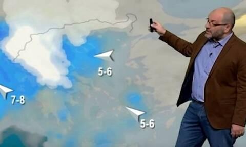 Καιρός: Εκτακτη προειδοποίηση Αρναούτογλου για πυκνές χιονοπτώσεις ακόμα και σε πεδινά...
