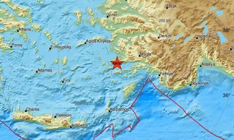 Σεισμός κοντά στην Κω  - Αισθητός στο νησί