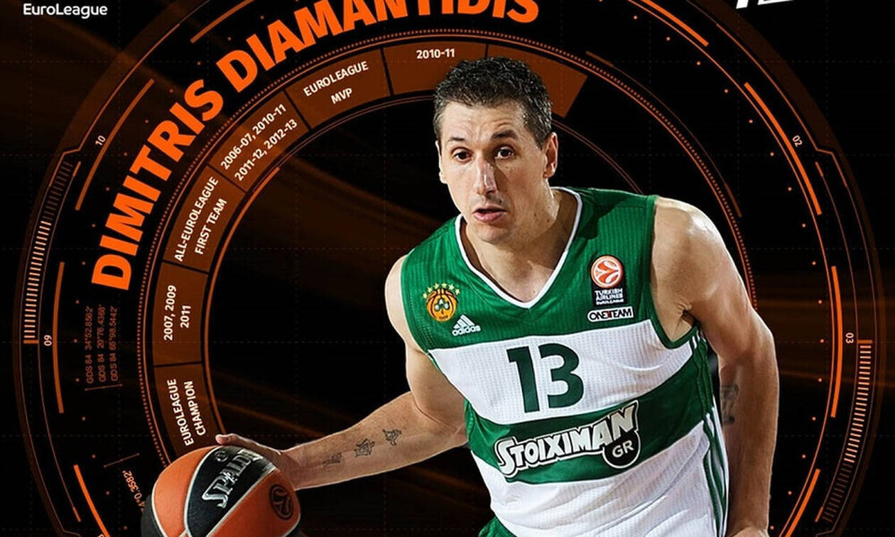 Euroleague: Μέλος της ομάδας της δεκαετίας ο Δημήτρης Διαμαντίδης (video)