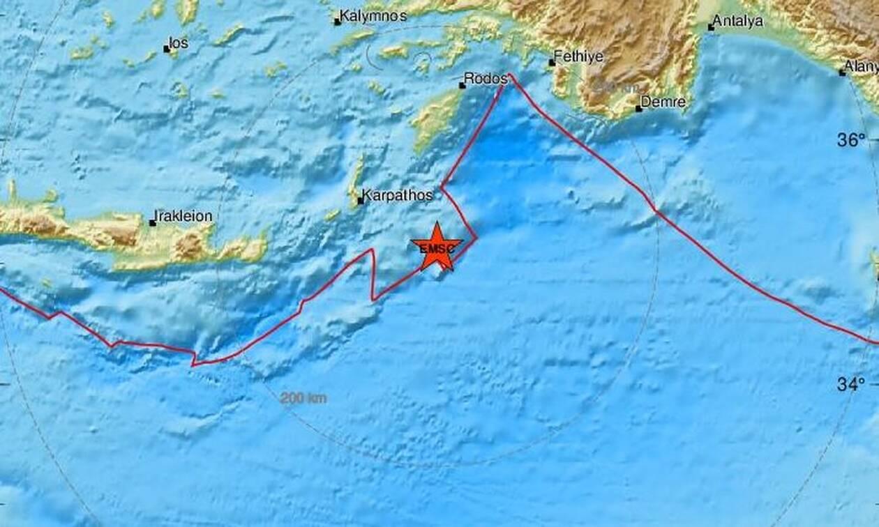 Διπλός σεισμός νότια της Ρόδου (pics)