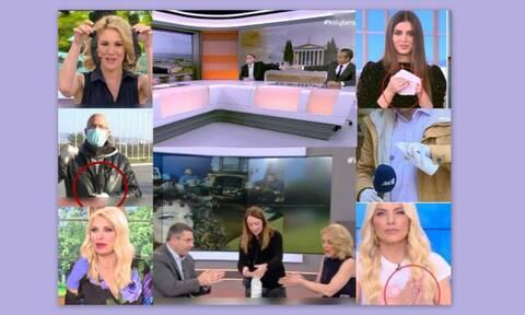 Κορονοϊός: Η TV σε καραντίνα! Τα ευτράπελα στα πάνελ των εκπομπών, τα αντισηπτικά και οι... ψεκασμοί