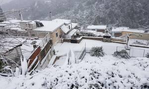 «Ντύθηκαν στα λευκά» τα Ιωάννινα - Πυκνό χιόνι στα ορεινά της Ηπείρου