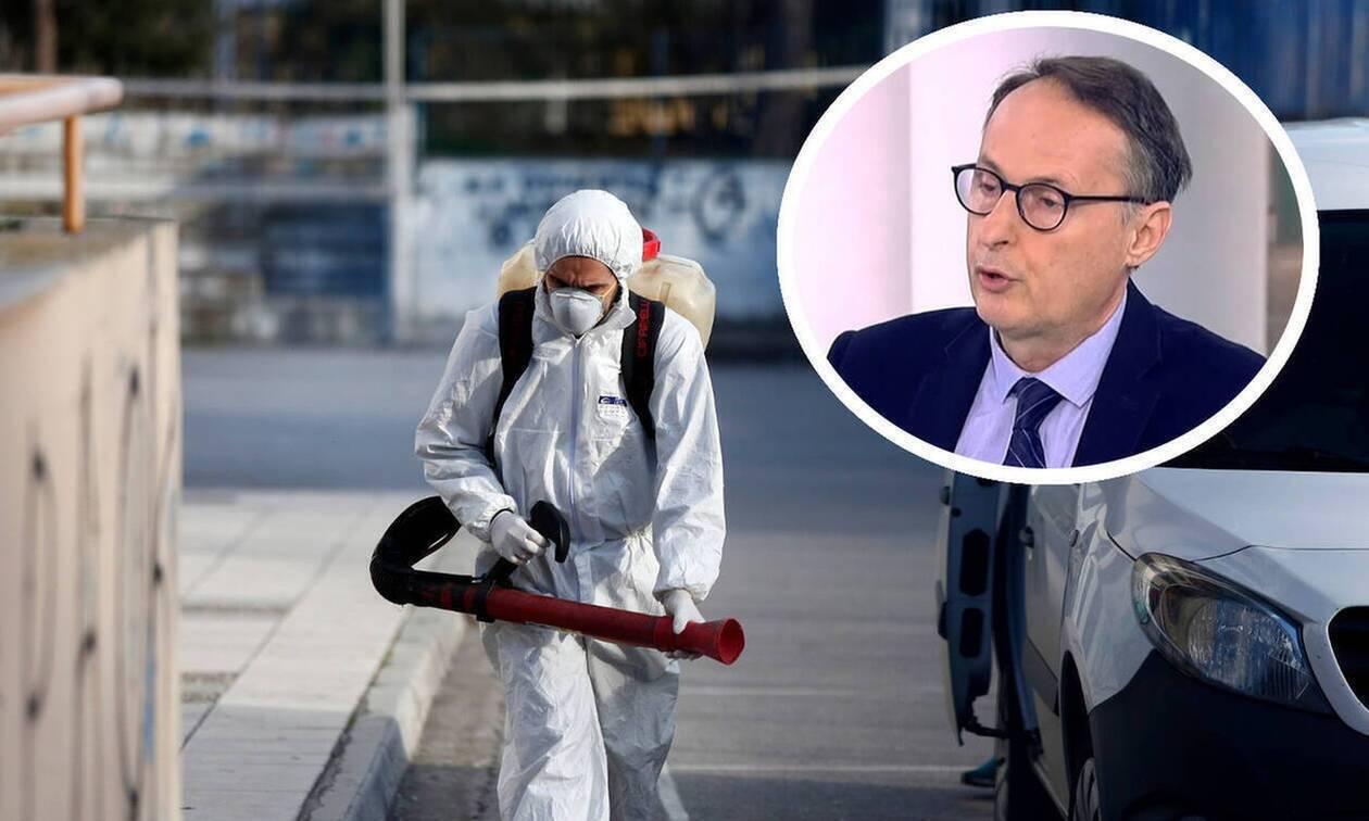 Κορονοϊός: Μεγάλη αβεβαιότητα για τον πραγματικό αριθμό των κρουσμάτων λέει ο λοιμωξιολόγος Σύψας