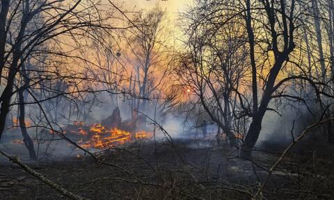 Τρόμος στο Τσερνόμπιλ: Μεγάλη φωτιά καίει την περιοχή – Αύξηση ραδιενέργειας αναφέρουν οι Αρχές