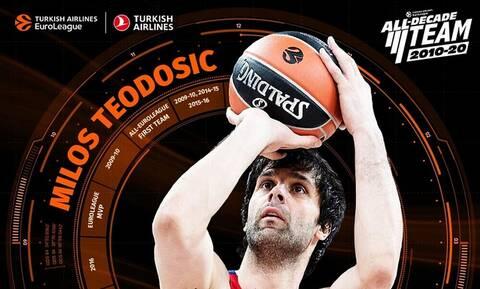 Euroleague: Στην ομάδα της δεκαετίας ο Τεόντοσιτς (video)