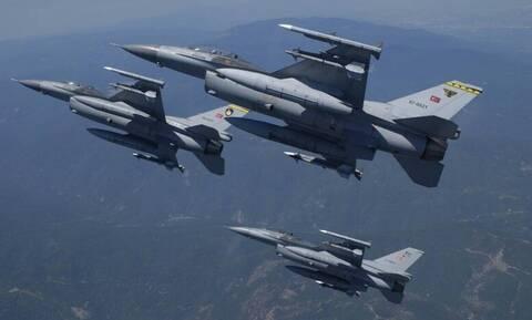 Νέες παραβιάσεις από τουρκικά μαχητικά στο Αιγαίο και μία εικονική αερομαχία