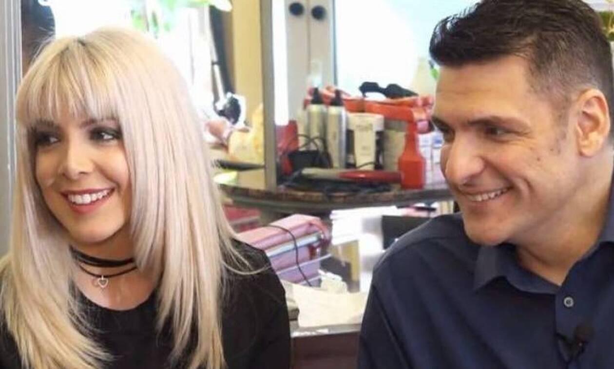 Χρήστος Αντωνιάδης: Η σύζυγός του τον κούρεψε live στην εκπομπή της Καινούργιου (vid &pics)