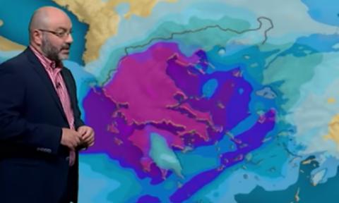 Καιρός Πάσχα: Προσοχή! Ενημέρωση Αρναούτογλου για την πιθανότητα ψυχρής εισβολής (vid)
