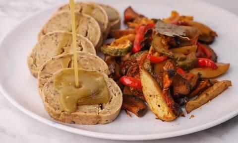 Η συνταγή της ημέρας: Ψωμί seitan με σάλτσα gravy
