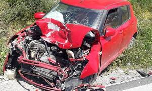 Κρήτη: Καραμπόλα τριών οχημάτων στο Τυμπάκι- Άγιο είχαν οι επιβάτες (pics)