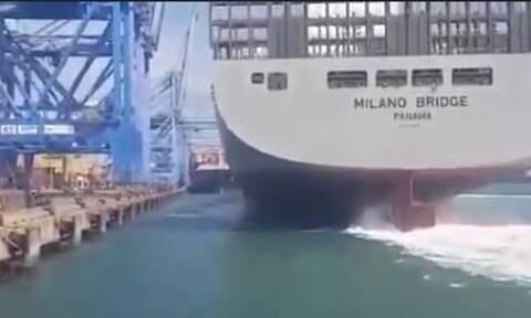 Τάνκερ πήγε να «δέσει» στο λιμάνι - Σοκάρουν οι εικόνες από αυτό που ακολούθησε (pics+vid)