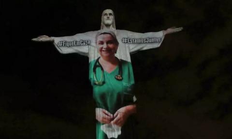 Κορονοϊός - Συγκλονιστικές εικόνες: Η Βραζιλία στέλνει μήνυμα ελπίδας σε όλο τον πλανήτη