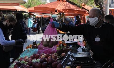 Κορονοϊός–Ρεπορτάζ Newsbomb.gr:Αυστηροί έλεγχοι στις Λαϊκές– Σε ποια προϊόντα παρατηρούνται αυξήσεις
