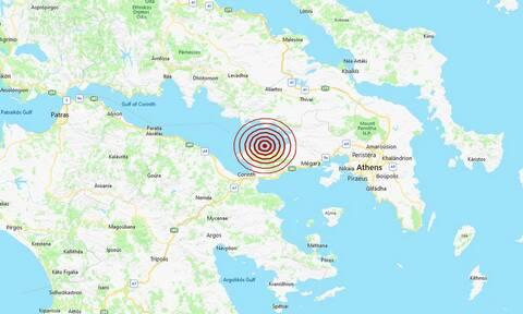 Σεισμός ΤΩΡΑ κοντά στις Αλκυονίδες - Αισθητός σε Κόρινθο και Λουτράκι (pics)