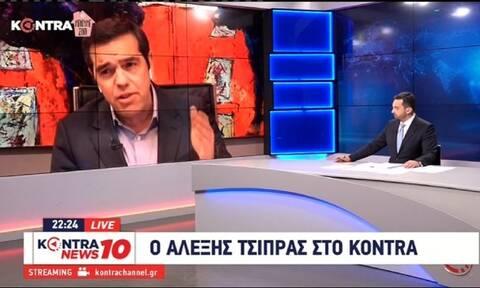 Τσίπρας: LIVE η συνέντευξη του προέδρου του ΣΥΡΙΖΑ στο Kontra