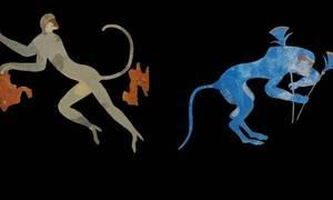 Το μυστήριο των μπλε μαϊμούδων στις αρχαιοελληνικές τοιχογραφίες αποκωδικοποιείται