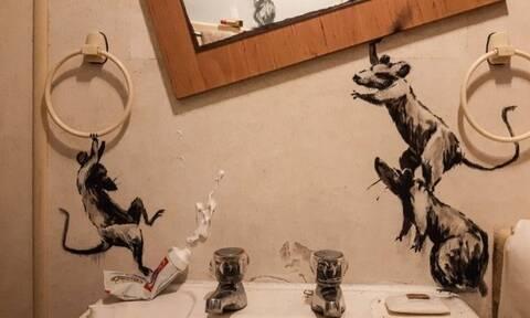 Απίστευτες δημιουργίες του Banksy στο μπάνιο του σπιτιού (photos)