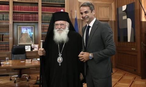Το «ευχαριστώ» Μητσοτάκη σε Ιερώνυμο και η εμπιστοσύνη του Αρχιεπισκόπου στα μέτρα της κυβέρνησης