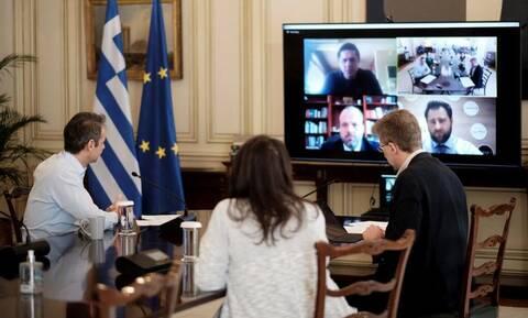 Ο Μητσοτάκης ενημερώθηκε από την διοίκηση του ΟΑΕΔ για τα νέα προγράμματα στήριξης των ανέργων