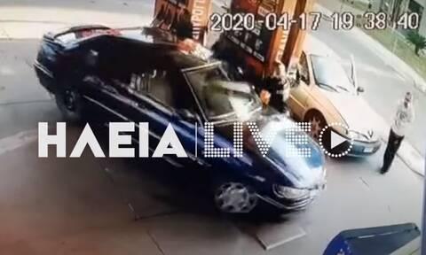 Ηλεία: Αρνήθηκε να πληρώσει και πάτησε με το αυτοκίνητο τον ιδιοκτήτη του βενζινάδικου! (vid)
