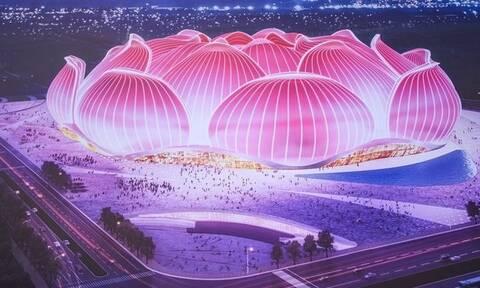«Άνθος λωτού»: Εντυπωσιακό βίντεο του υπό κατασκευή μεγαλύτερου γηπέδου ποδοσφαίρου στον κόσμο