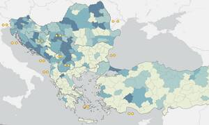 Κορονοϊός: Ένας διαδραστικός χάρτης για την εξέλιξη της νόσου στη γειτονιά της Ελλάδας