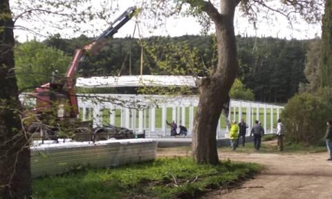 Προχωρούν τα έργα στο πρώην βασιλικό κτήμα Τατοΐου (pics)