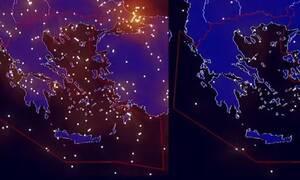 «Άδειασαν οι ουρανοί»: Απίστευτες εικόνες πριν και μετά το lockdown στην Ευρώπη (vid)