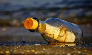 Μήνυμα αγάπης και… καραντίνας βρέθηκε σε μπουκάλι - Ταξίδεψε από τη Μυτιλήνη στη Σκιάθο (pics)