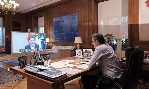 Κορονοϊός: Τηλεδιάσκεψη Μητσοτάκη με ηγέτες κρατών για την πανδημία - Τι συζήτησαν