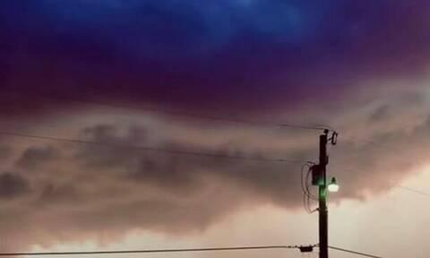 Τρόμος στον ουρανό - Έμειναν με το στόμα ανοιχτό (pics)