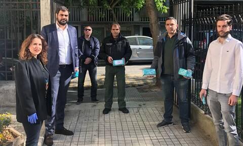 Η ΟΝΝΕΔ παρέδωσε υγειονομικό υλικό στο 6ο Δημοτικό Διαμέρισμα Αθηνών