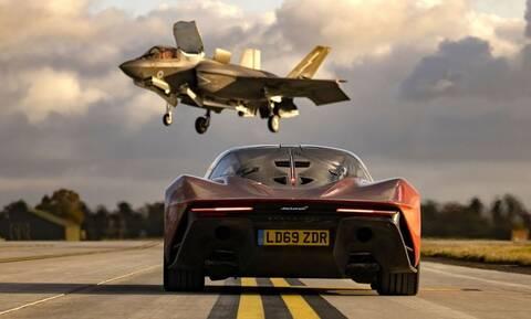 Δείτε όλο το video της κόντρας μιας McLaren Speedtail με ένα F35