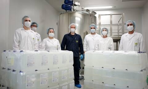 Κορονοϊός: Πάνω από 14.000 λίτρα αντισηπτικού για το ΕΣΥ διέθεσε δωρεάν η InterMed