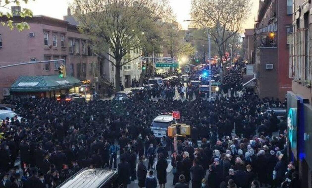Κορονοϊός -Νέα Υόρκη: Χάος στην πόλη με κηδεία ραβίνου - Πλήθος κόσμου στους δρόμους