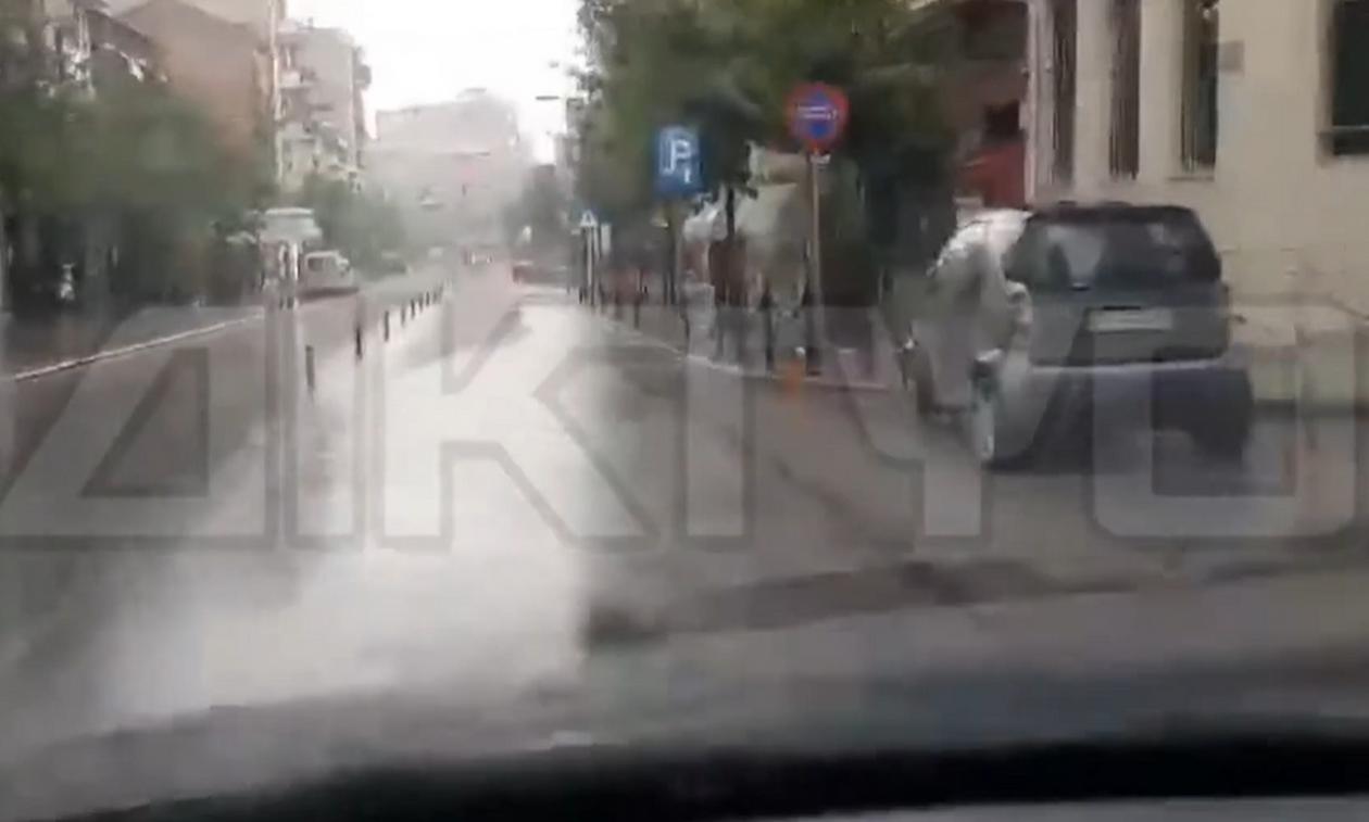 Ο καιρός… τρελάθηκε: Χαλαζόπτωση και ισχυρές βροχές στις Σέρρες